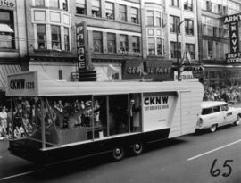 CKNW trailer in 1955 P.N.E. Opening Day Parade