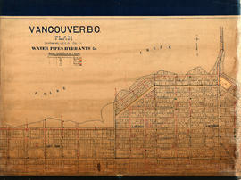 Vancouver, B.C. Plan showing location of water pipes, hydrants, etc. [Fairview slopes]