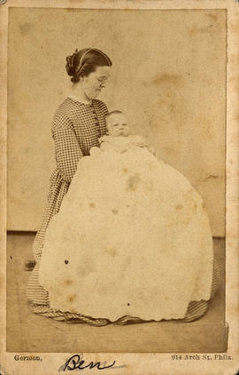 Benjamin Tingley Rogers as an infant with his Mother, Clara Augusta Dupuy
