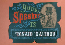 Your speaker is Ronald D'altroy