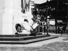 Vancouver Veterans Battalion, before placing wreath