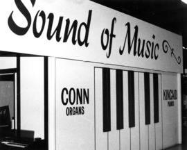 Sound of Music display of pianos and organs