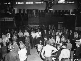 Crowd in Junior Farmers competition building