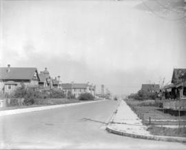 [Looking east along West 12th Avenue from Spruce Street]