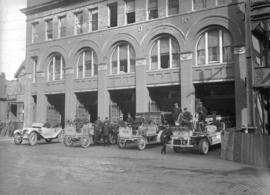 Vancouver Fire Department [Firehall no. 2 with apparatus]