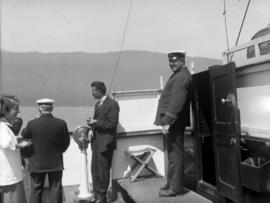 "[Officers and passengers aboard S.S. ""Camosun""]"