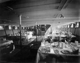 "[Dining  room of the C.P.R. S.S. ""Princess May""]"
