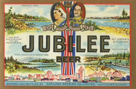 Jubilee beer [beer bottle label]