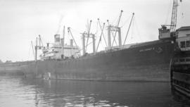 "S.S. Sea Comet II [at dock, at Pier ""B""]"