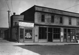 [Store building on] site of Central City Mission [233 Abbott Street]