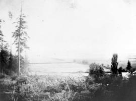 [View of the Fraser River valley from Fitzgerald McCleery's farm]