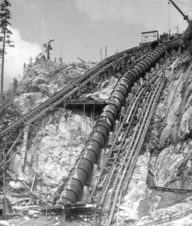 [Inclined railway and penstocks for Buntzen Lake Power Plant number two