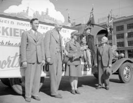 Barbara Stanwyck [and others promoting the] 4th Victory Loan Campaign
