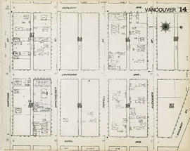 Plan of Vancouver, 1889 [fire map] : [Railway Street to Dunlevy Avenue to Hastings Street to Carl...