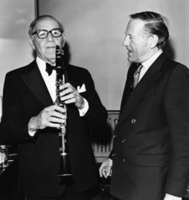 Benny Goodman and Hugh Pickett