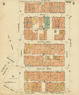 Plate 5 [Abbott Street to CP Rail right-of-way to Cambie Street to Pender Street]