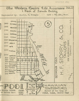 Sectional map and street directory of Vancouver, British Columbia : [Water Street to Chilco Stree...