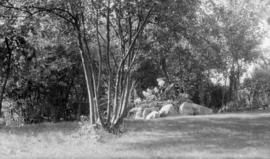 Major Matthews' sunken garden at Kitsilano Beach about 1925
