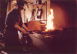 [Blacksmith at work at D. McDonald Ltd. - 360 Alexander St.]