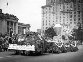 Board of Park Commissioners float in 1948 P.N.E. Opening Day Parade