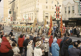 48th Grey Cup Parade, on Georgia and Howe, women and men on horseback