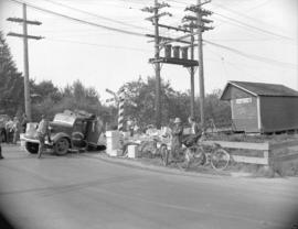 [Truck after collision with] B.C. Electric Railway Interurban
