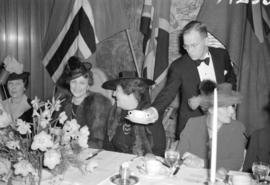 [Crown Princess Martha of Norway with Mrs. F.J. Ralston at a luncheon at the Hotel Vancouver]
