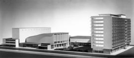 [Model of proposed civic auditorium and theatre]