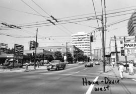 Howe and Davie [Streets looking] west