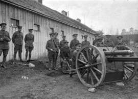 68th C.F.A. soldiers and artillery piece