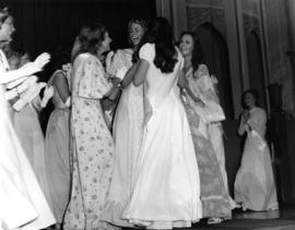 Leanne Moore, Miss P.N.E. 1975 with other contestants