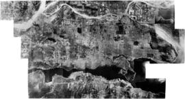 Aerial view of Vancouver and environs showing North Shore, Burrard Inlet, Vancouver and the Frase...