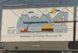 Centennial Seaboard billboard sponsored by the Teahouse Restaurant