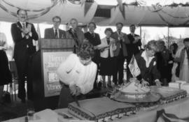 Cutting of the birthday cake