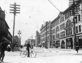 [Looking south on Granville Street from Hastings Street]