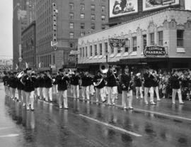 Marching band in 1950 P.N.E. Opening Day Parade