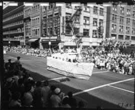 West Vancouver float in 1957 P.N.E. Opening Day Parade
