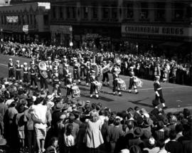 Cadet marching band in 1947 P.N.E. Opening Day Parade