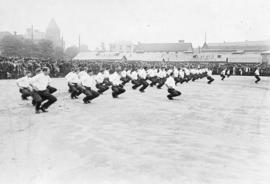 [A business men's (civilian) battalion exercise at Cambie Street Grounds]