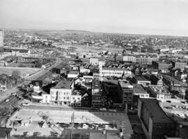 [Aerial view looking south-east from Georgia and Richards Streets]