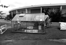 Pacific Eden Sales display of greenhouses by Agrodome