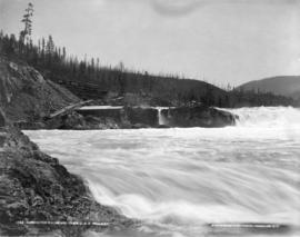 Bonnington Falls and Train, C. and K. Railway