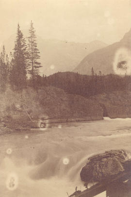 [A natural dam on the Kicking Horse River]