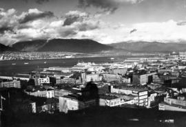 [View of Downtown and the waterfront looking north-east]