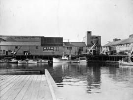 Middle portion of panorama, view of the National Harbours Board fish wharf