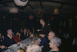Inauguration dinner [at Trader Vic's], Ron Thompson talking
