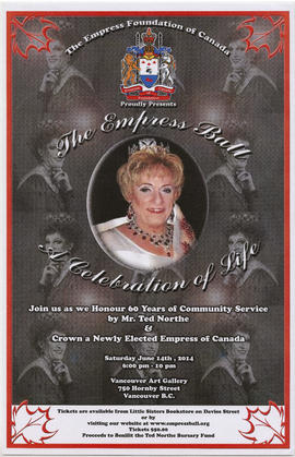 The Empress Foundation of Canada proudly presents The Empress Ball : a celebration of life : Satu...
