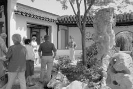 Group touring the Dr. Sun Yat-sen Garden