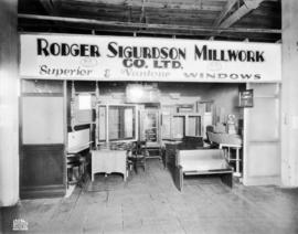 Rodger Sigurdson Millwork Co. display of windows