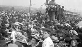 Scene of opening of Granvlle St. Bridge. Vancouver, B.C. Labor Day 1909
